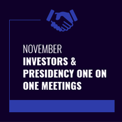 November Investors & Presidency one on one meetings